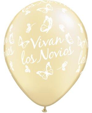 Globo de Látex en Español- Vivan los Novios Roses