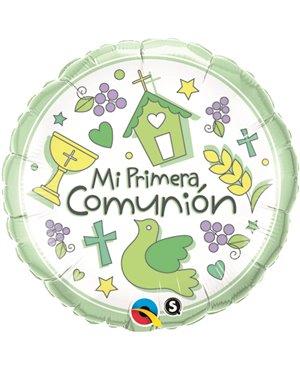 """Mi Primera Comunión 18"""" Minimo 3 unid"""