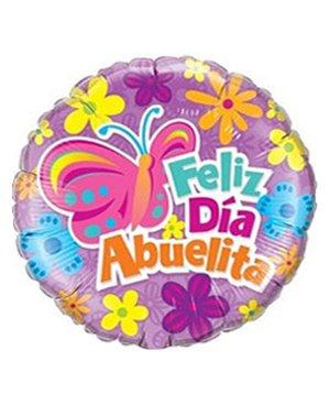 """Feliz Día Abuelita 18"""" Minimo 3 Unid"""