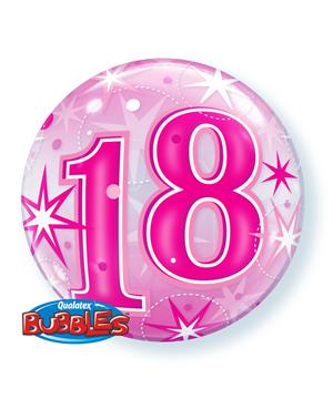 "18 Pink Staburst Sparkle 22"" (Minimo 3 Unid)"