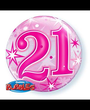 "21 Pink Straburst Sparkle 22"" (Minimo 3 Unid)"