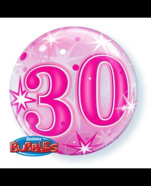 "30 Pink Straburst Sparkle 22"" (Minimo 3 Unid)"