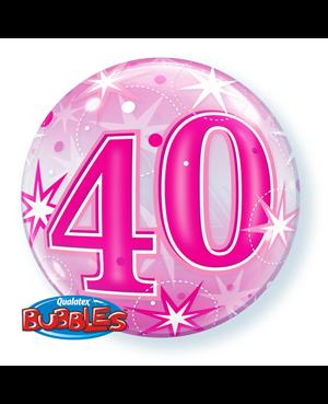 "40 Pink Straburst Sparkle 22"" (Minimo 3 Unid)"