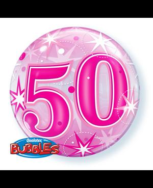 "50 Pink Starburst Sparkle 22"" (Minimo 3 Unid)"