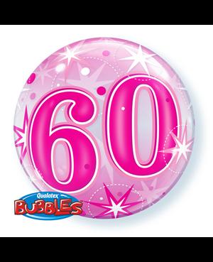 "60 Pinnk Starburst Sparkle 22"" (Minimo 3 Unid)"