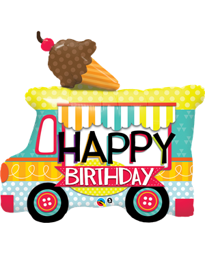 "Birthday Ice Cream Truck 36"" (Minimo 3 Unid)"