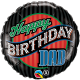 "Birthday Dad Stripes 18"" (Minimo 3 Unid)"