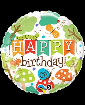 """Birthday Banner Garden 18"""" (Minimo 3Unid)"""