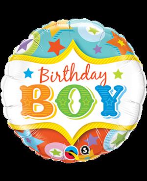 """Birthday Boy Circus Stars 18"""" (Minimo 3 Unid)"""