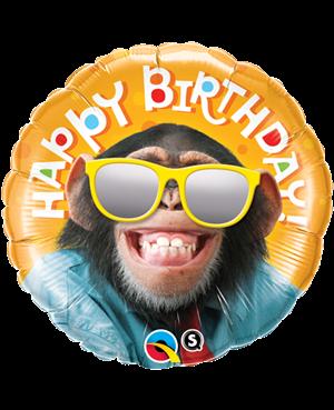 "Birthday Smillin Chimp 18"" (Minimo 3 unid)"