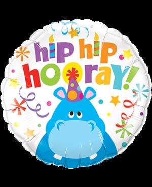 "Hip Hip Hooray Hippo 18"" (Minimo 3 unid)"