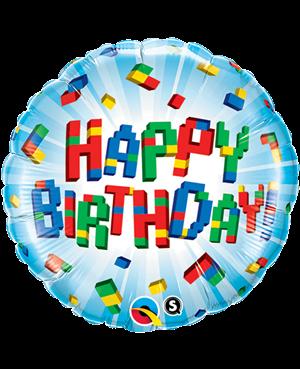 "Birthday Exploding Blocks 18"" (Minimo 3 Unid)"