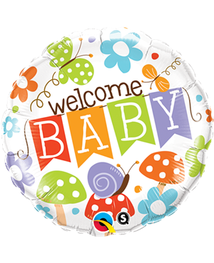 "Welcome Baby Banner Garden 18"" (Minimo 3 Unid)"