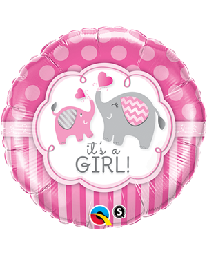 "It`s A Girl Elephants 18"" (Minimo 3 Unid)"