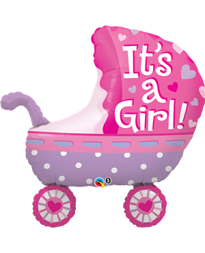"It´s A Girl Baby Stroller 35"" (Minimo 3 unid)"