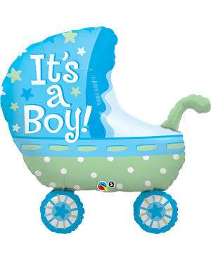 "It´s A Boy Baby Stroller 35"" (Minimo 3 Unid)"
