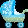 """It´s A Boy Baby Stroller 35"""" (Minimo 3 Unid)"""