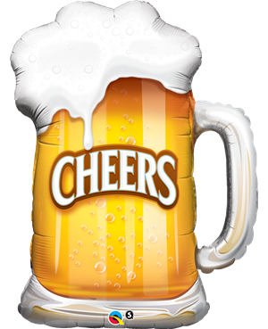 "Cheers! Beer Mug 35"" (Minimo 3 Unid)"