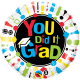 """You Did It Grad ! 18"""" (Minimo 3 Unid)"""