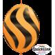 "Wavy Stripes Black 12"" Orange (50ct)"
