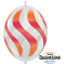 "Wavy Stripes Orange & Red 12"" Diamond Clear (50ct)"