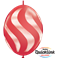 Wavy Stripes White Red (50ct)