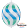 Wavy Stripes Green & Blue - Diamond Clear (50ct)