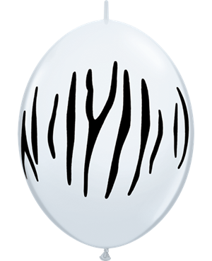 "Zebra Stripes 12"" White (50ct)"