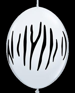 """Zebra Stripes 12"""" White (50ct)"""