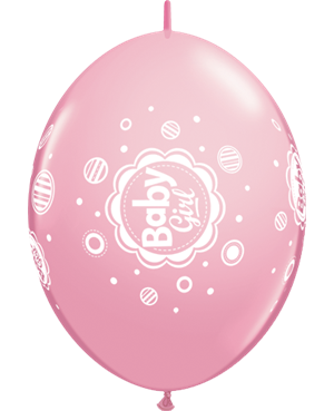 "Baby Girl Dots 12"" Pink (50ct)"