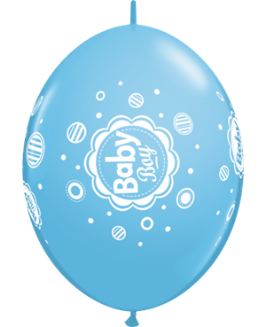 "Baby Boy Dots 12"" Pale Blue (50ct)"