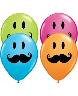"Smile Face Mustache 5"" (100ct)"
