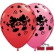 "Disney Mickey & Minnie XOXO 11"" Assort Red (25ct)"