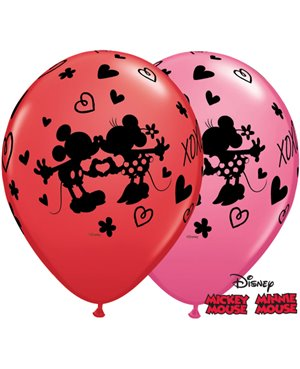 "Disney Mickey & Minnie XOXO 11"" Assort Red (25ct)"