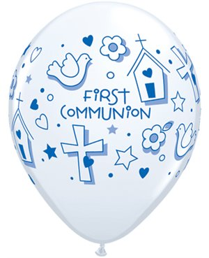 "First Communion Symbols - Boy 11"" White (25ct)"