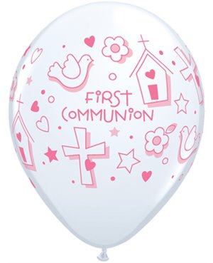 "First Communion Symbols - Girl 11"" White (25ct)"