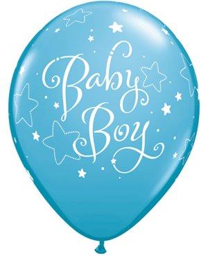 "Baby Boy Stars 11"" Robin´s Egg Blue (6ct) Minimo 6 Unidades"