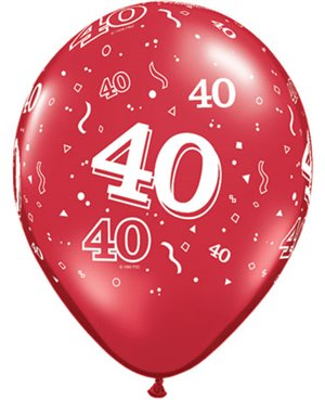 """40-A - Round 11"""" Ruby Red (25ct)"""