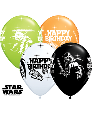 "Star Wars Birthday Assorment 11"" Assorted (25ct)"