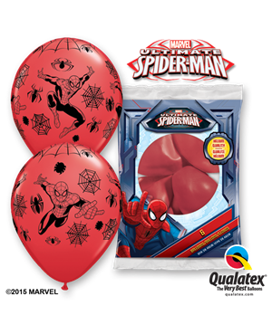 "Marvels Spider-Man 12"" Red (25ct)"