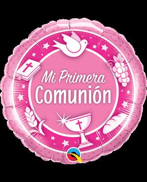 """Comunión Rosado 18"""" (01ct) Minimo 3 Unid"""