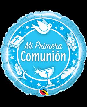 """Comunión Azul 18"""" (Minimo 3 Unid)"""
