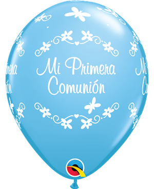 "Comunion Mariposas 11"" Azul Claro (25ct)"