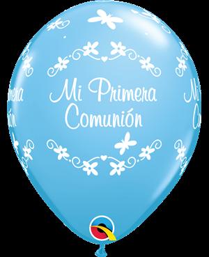 "Comunion Mariposas 11"" Azul Claro (25ct)"