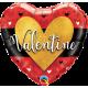 "Valentine Burnished Heart Gold 18"" (01ct) Minimo 3 Unid"