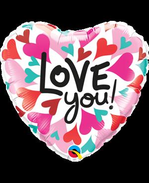 "Love You Convergind Hearts 18"" (01ct) Minimo 3 Unid"