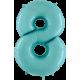 Numero 8 (Disponibles en dos Tonos) Rosa Claro y Celeste. Marca Grabo