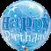 "Birthday Blue Starburst Sparkle 22"" (Minimo 3 Unid)"