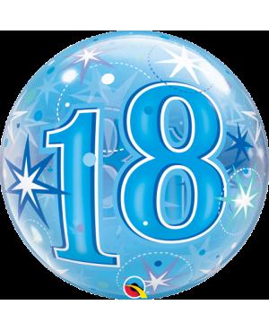 "18 Blue Starburst Sparkle 22"" (Minimo 3 unid)"
