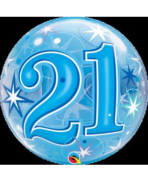 "21 Blue Starburst Sparkle 22"" (Minimo 3 unid)"